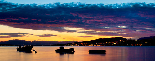 travel light sunset sea summer vacation sky panorama sun sunlight holiday seascape west color beach nature wet water colors rock night clouds canon dark landscape boats coast boat rocks long exposure outdoor dusk tripod salt scenic croatia shore 1750 tamron adriatic manfrotto hrvatska youri 500d senj novivinodolski beekmans crkvenica klenovica scenicsnotjustlandscapes poville