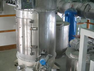 Ciclonfiltro per alimentazione impianto dosaggio gravimetrico per compound
