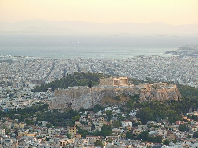 The Acropolis in Athens seen from Mt. Lycabettus
