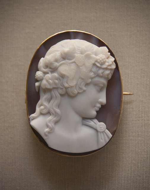 Head of Antinous Vertumnus, onyx, about 1850