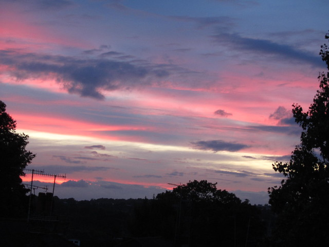Sunset in Finchley