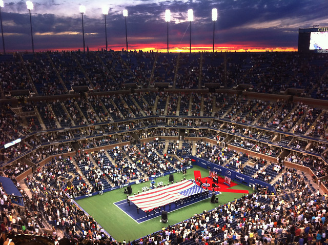 Marines Present Flag at US Open, Aug. 29