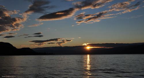 morning sky sun sunlight lake canada reflection water clouds sunrise photography photo dock nikon photographer bc image britishcolumbia okanagan photograph zipline beams okanaganlake okanaganvalley peachland ropepull centralokanagan nikond90 copyrightimage swimbay taniasimpson