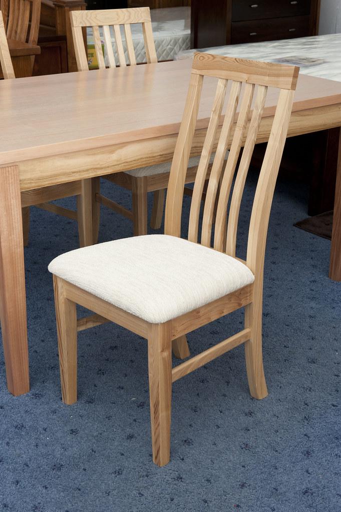 Tasmanian oak dining table  chairs free del