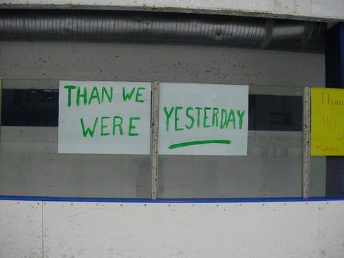 than we were yesterday