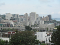 View of downtown Tacoma from my hotel