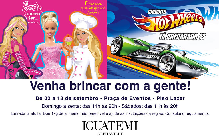 Evento Barbie e Hot Wheels - Iguatemi Alphaville