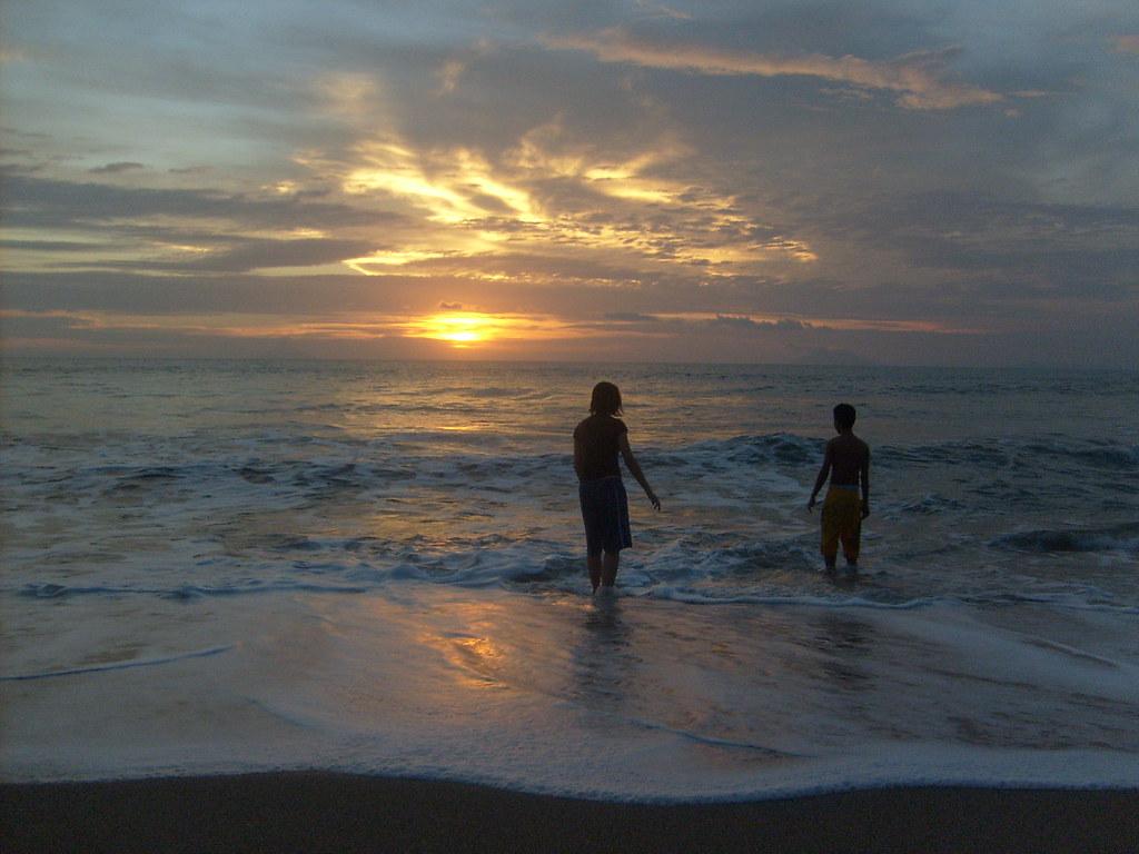 sunset at banten beach