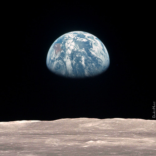 Earth from the Moon - Illustration