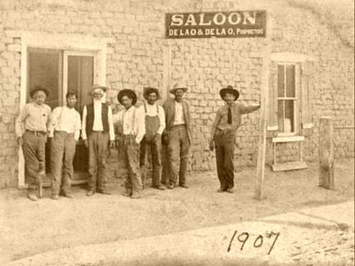 De La O Saloon, Village of Dona Ana, New Mexico 1907  (Full Size Photo-Sepia)