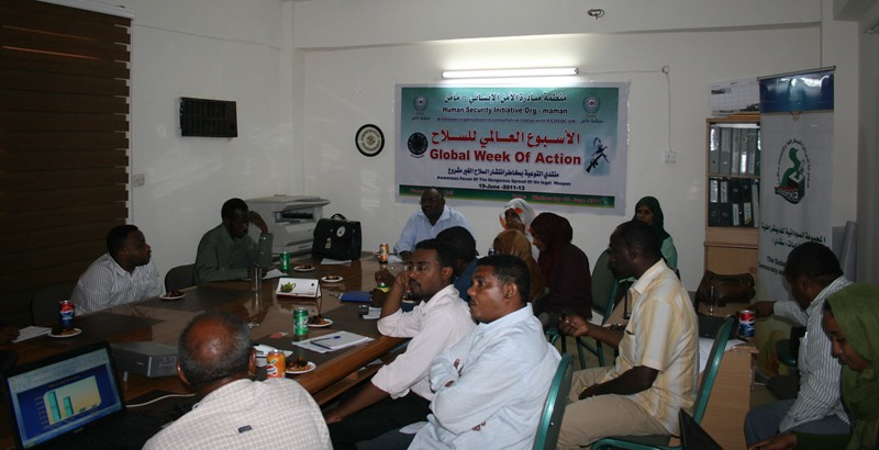 Week of Action against Gun Violence 2011 - Sudan - Khartoum - Human Security initiative Organisation MAMAN