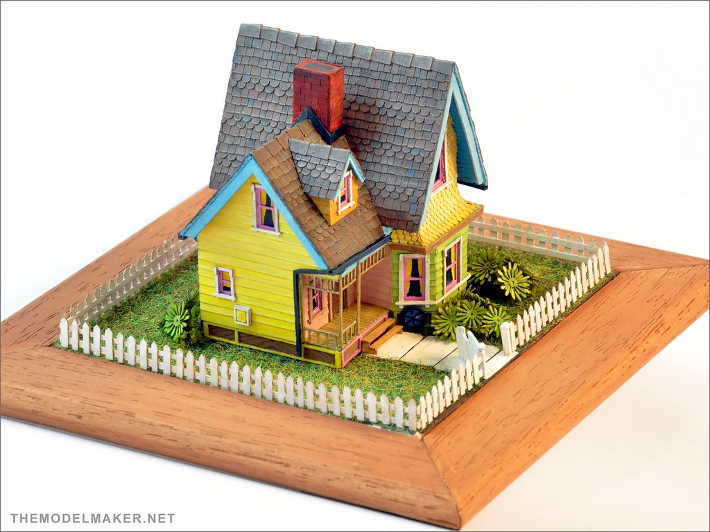 Carl 39 s house scale model from pixar up themodelmaker for Model house movie