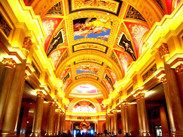 Ceiling of the Venetian Macao