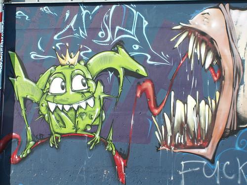 Graffiti dort bei Rinaldos Schatten kam von Dresden die Seele entlang 021