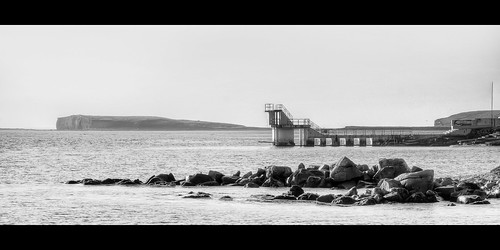 ocean ireland sea blackandwhite irish white seascape black galway monochrome mono pier salthill diving galwaybay divingpier