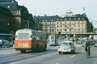 Vasagatan in Stockholm 1962