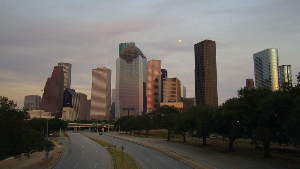 Moonrise over Houston