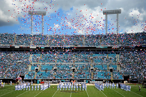 Sailors in Florida and Georgia participated in a special performance  as part of  the Jacksonville Jaguar 9/11 Remembrance Ceremony
