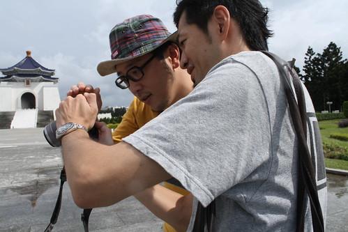 [台湾2.5] 中正紀念堂で写真の確認中