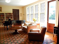 Music room in the West Cottage, Yaddo