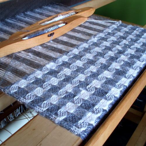 Weaving on my new loom