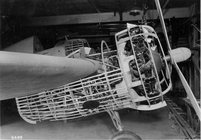 Grumman XF5F Skyrocket engine nacelle