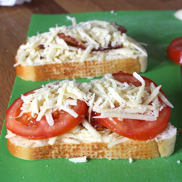 Garlic-Rubbed Grilled Cheese with Bacon and Tomatoes | Flickr - Photo ...