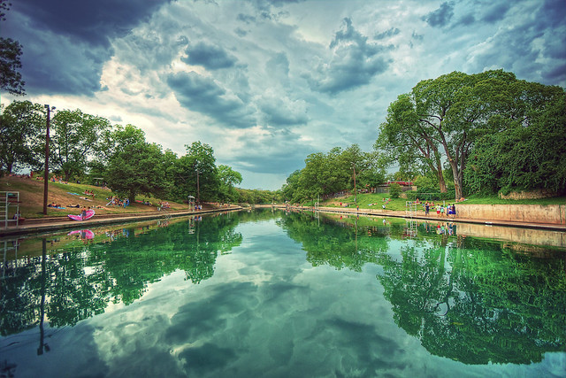 Barton springs pool a few summers back i visited austin fo flickr photo sharing for Barton swimming pool timetable