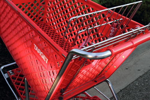 Red Target Shopping Cart