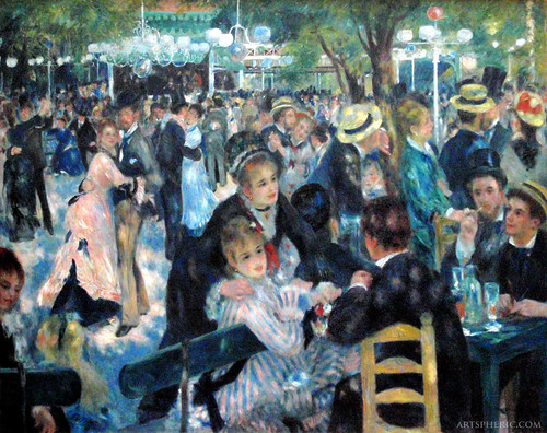 Pierre-Auguste Renoir: Dance at Le Moulin de la Galette (1876)