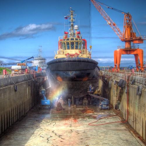 Port of Wakkanai-HDR on AUG 24, 2011