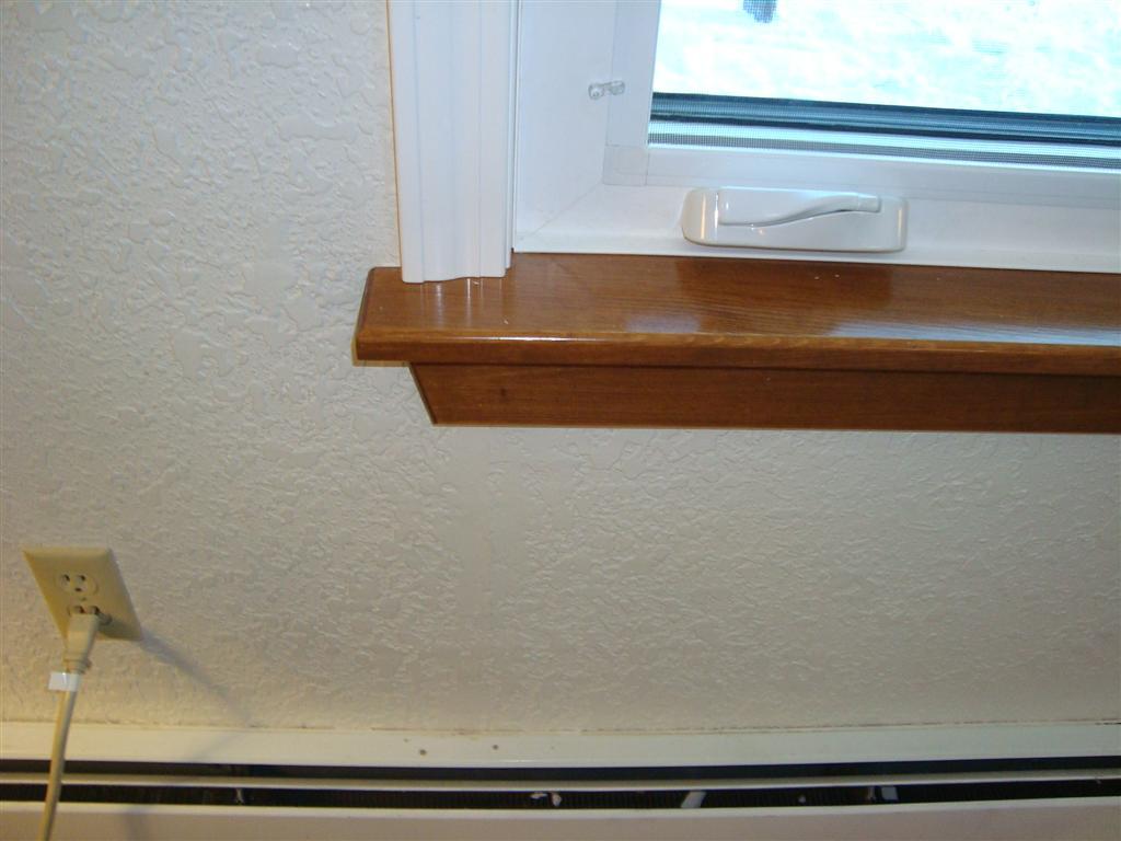 Interior vinyl window trim - Vinyl Casing Stained Pine Stool 7oe5