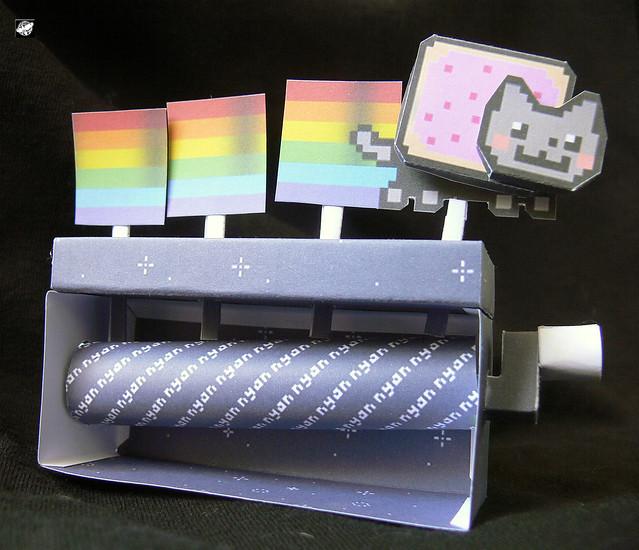 Minecraft Papercraft Nyan Cat Nyan Cat Papercraft