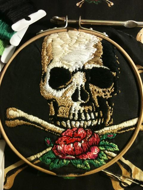 Skull Stitch-along: after