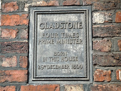 Photo of William Ewart Gladstone grey plaque