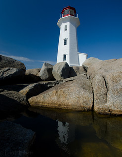 peggys cove lighthouse reflection