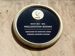 Photo of Edmund Aikin and Wellington Rooms, Liverpool black plaque