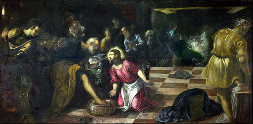 Tintoretto - Christ washing the Feet of the Disciples 1575-80