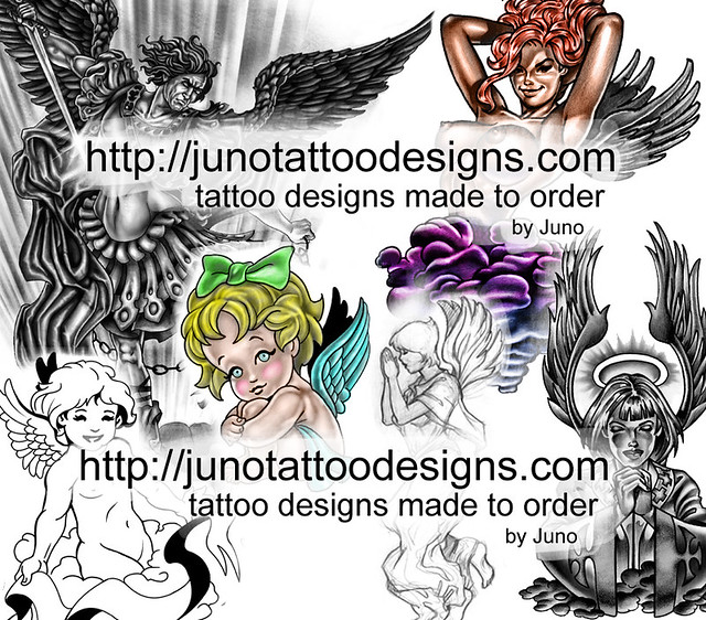 angels tattoo designs by Juno