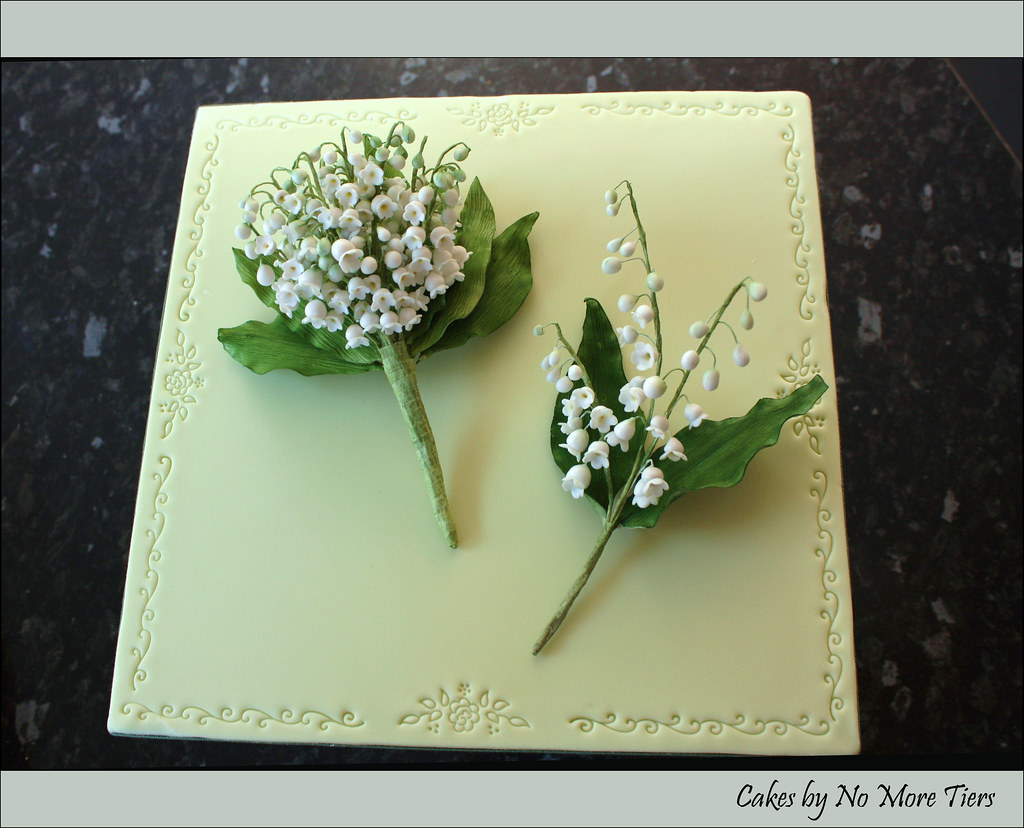 Cakes by no more tiers yorks most interesting flickr photos picssr lily of the valley corsage and buttonhole sugar izmirmasajfo