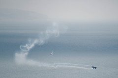 F16 flies out of the gloom