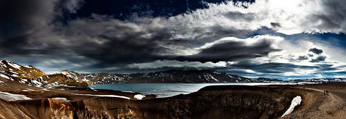 blue sky mountain lake snow nature water clouds landscape volcano lava iceland rocks earth crater canon5d geothermal tiltshift askja viti leefilter öskjuvatn 24mmtiltshift canon5dmkii 09hardgrad tse24mmf35lii