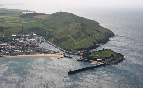 sea castle harbour aerial peel isleofman manx iom