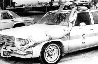 Air Filtration on Police Car after Mt. St. Helens eruption - 1980