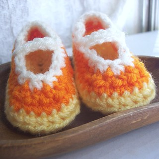 Candy Corn Booties