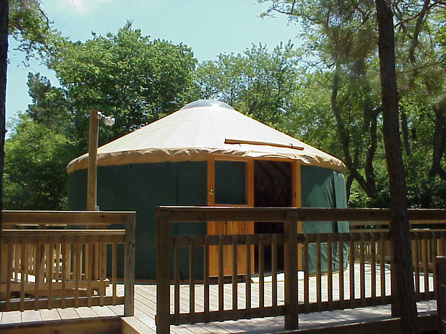 A Yurt At Natural Tunnel State Park Va