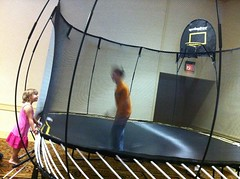 trampolining--equipment and supplies, net, trampoline,