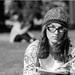 Enjoying a book in Yerba Buena Park.   Pentax MZ-S | FA 31mm f/1.8 Ltd. | Neopan 100