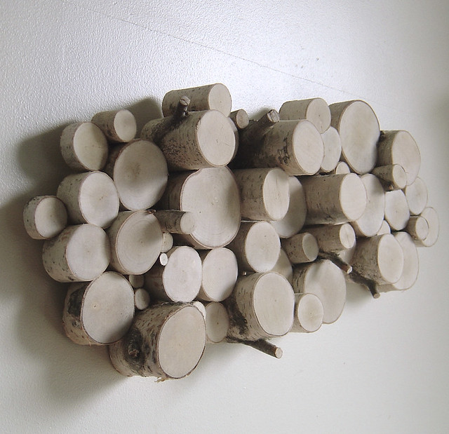 Wood wall decor white : White birch wood topography organic wall art flickr