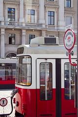Final de un vagón del tranvía de Viena
